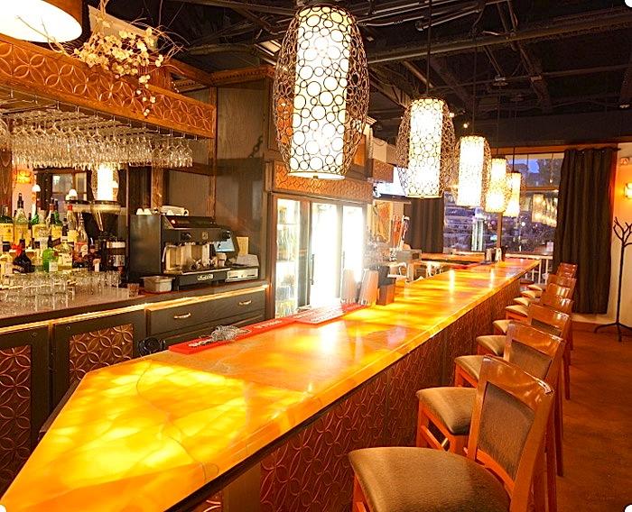 Resturant Counter Top Orange Onyx